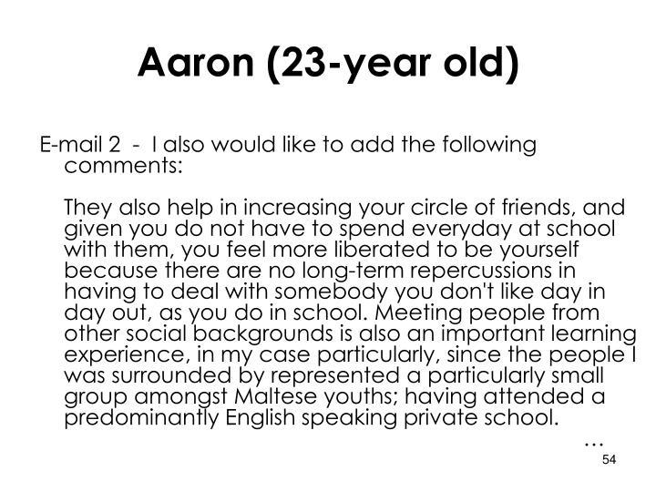 Aaron (23-year old)