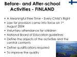 before and after school activities finland