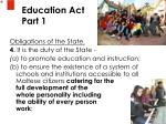 education act part 1