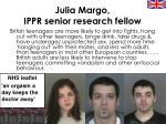julia margo ippr senior research fellow