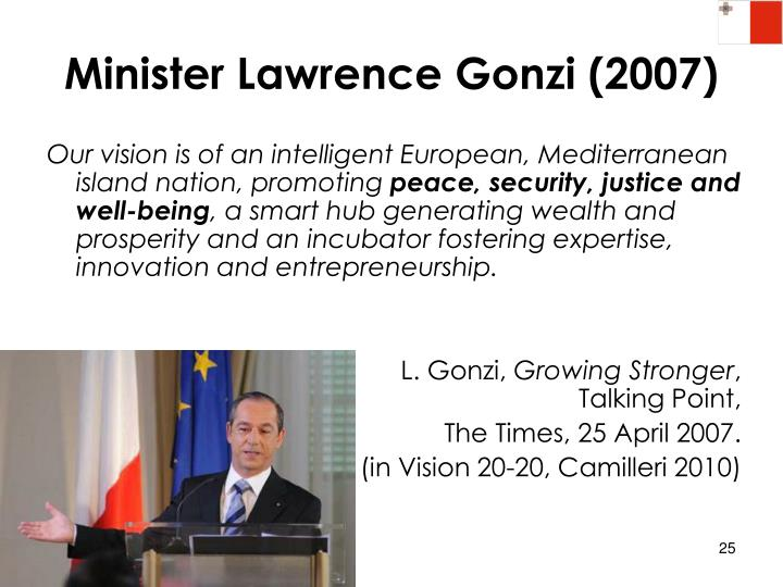 Minister Lawrence Gonzi (2007)