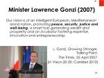 minister lawrence gonzi 2007