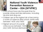 national youth violence prevention resource center usa nyvprc