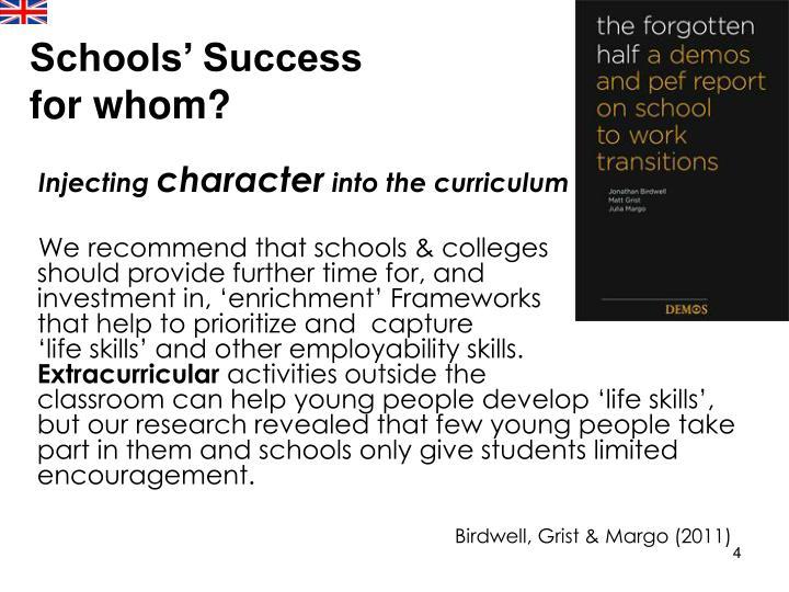 Schools' Success for whom?