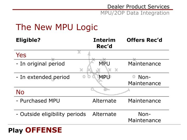 The New MPU Logic
