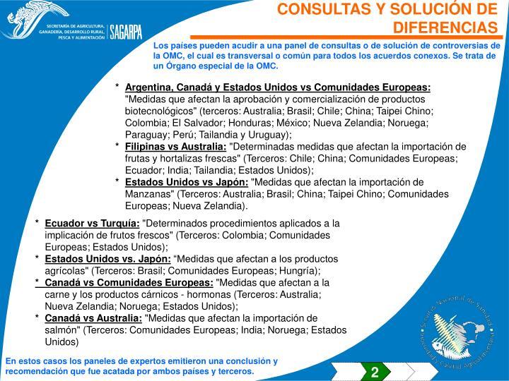 CONSULTAS Y SOLUCIÓN DE DIFERENCIAS