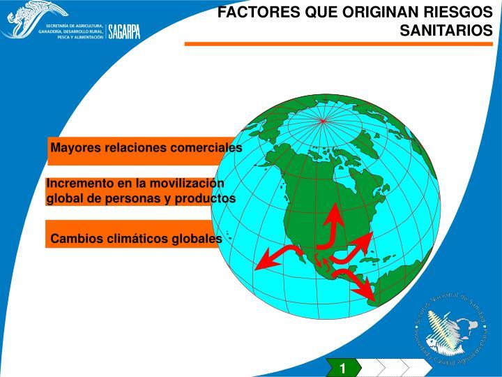 FACTORES QUE ORIGINAN RIESGOS SANITARIOS