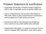 problem statement justification