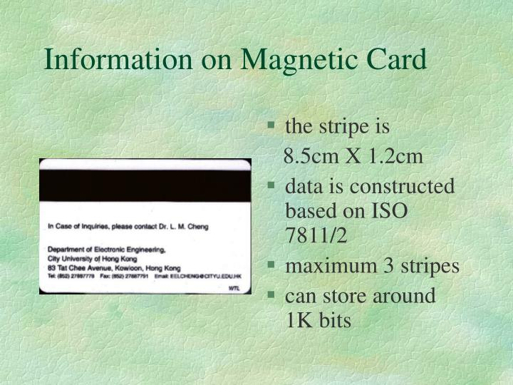 Information on Magnetic Card