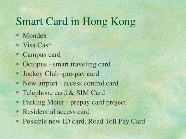 Smart Card in Hong Kong