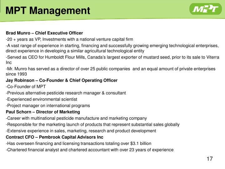 MPT Management