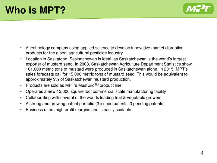 Who is MPT?