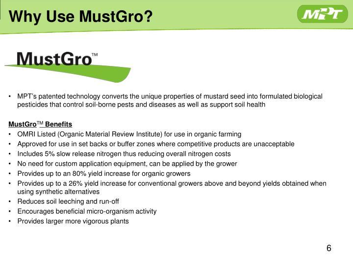 Why Use MustGro?