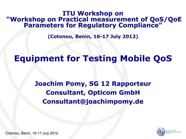 ITU Workshop on