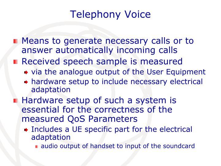 Telephony Voice
