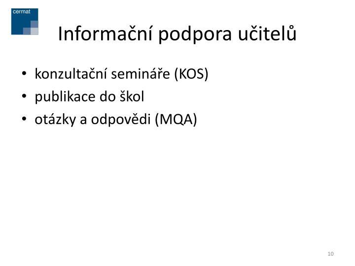 Informační podpora učitelů