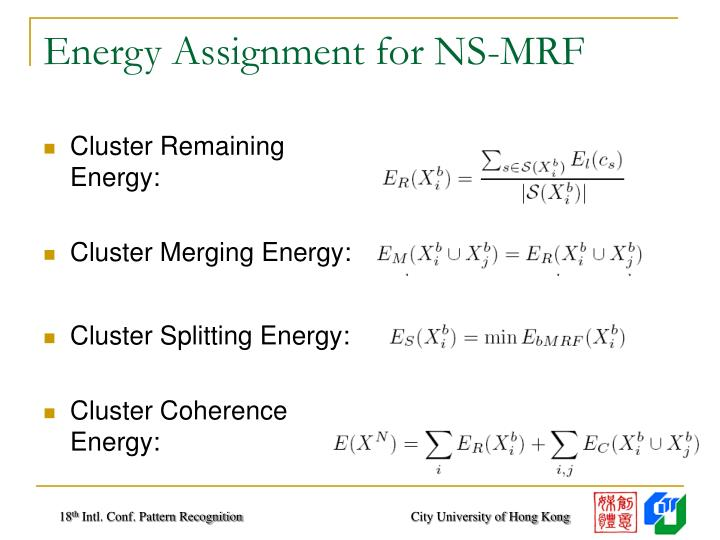 Energy Assignment for NS-MRF