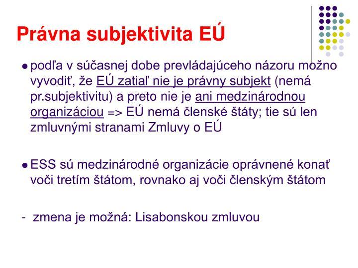Právna subjektivita EÚ