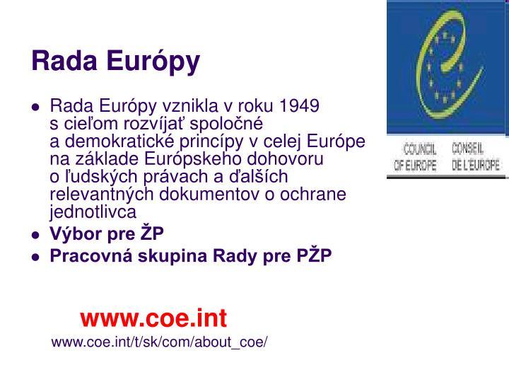 Rada Európy