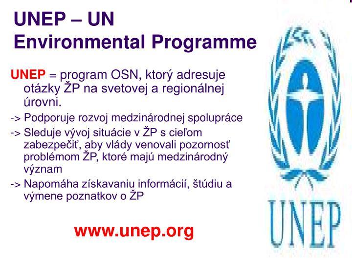 UNEP – UN