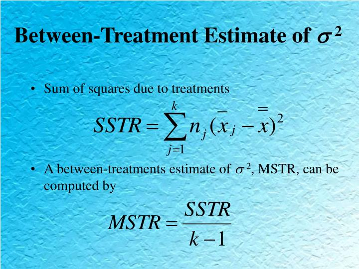 Between-Treatment Estimate of