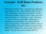 example kelli home products inc