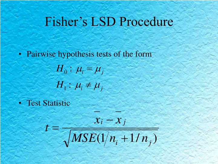 Fisher's LSD Procedure