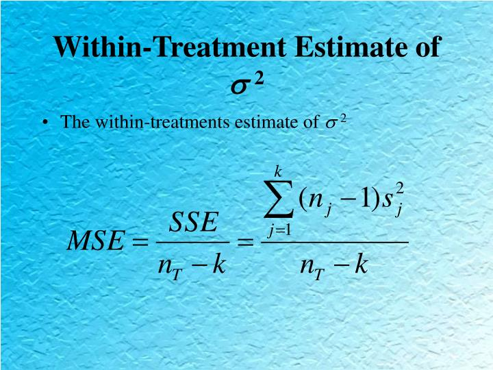 Within-Treatment Estimate of