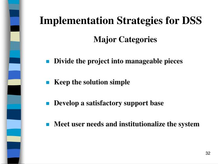 Implementation Strategies for DSS