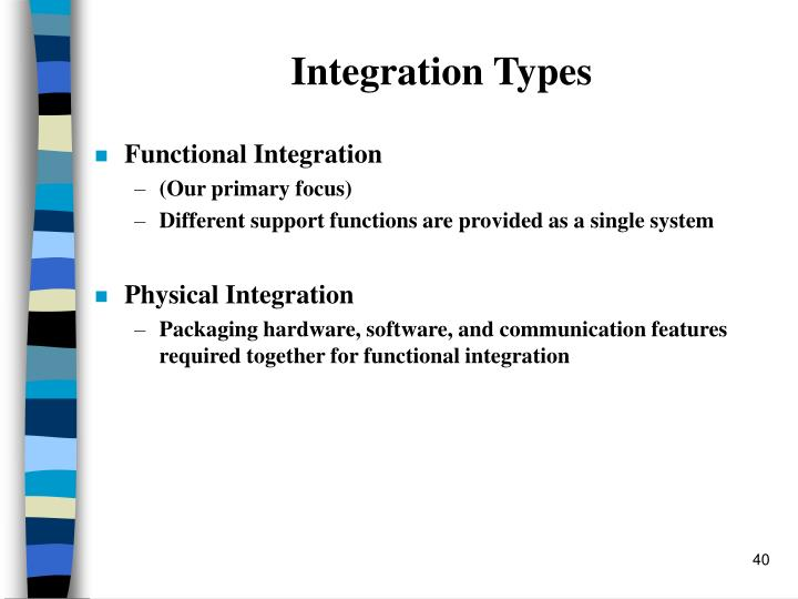 Integration Types