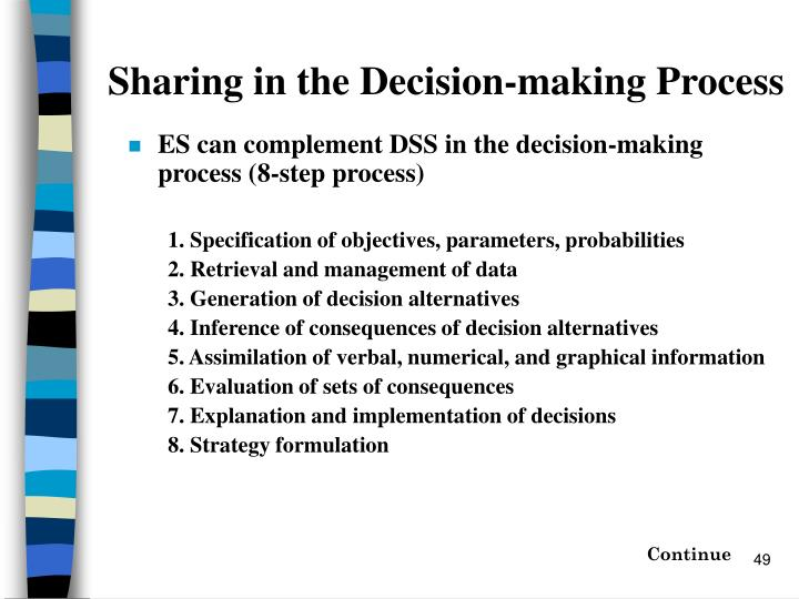 Sharing in the Decision-making Process