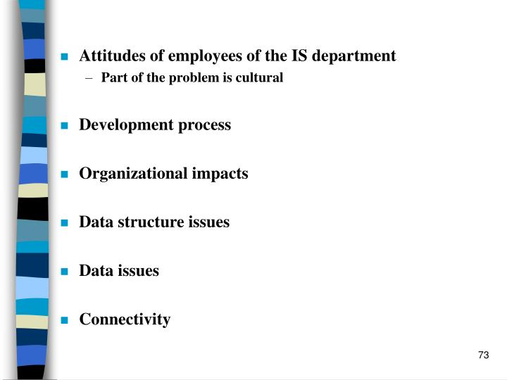 Attitudes of employees of the IS department