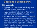choosing a scheduler 4