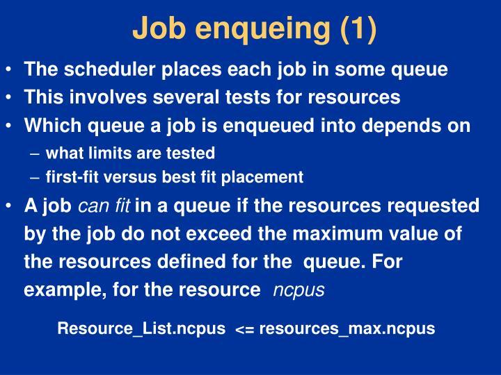 Job enqueing (1)