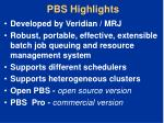 pbs highlights
