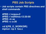 pbs job scripts