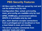 pbs security features