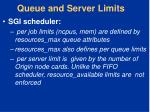 queue and server limits1