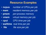 resource examples