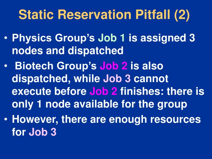 Static Reservation Pitfall (2)