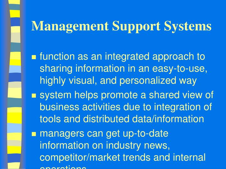 Management support systems2