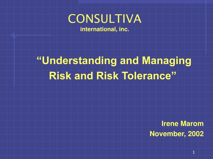 Consultiva international inc