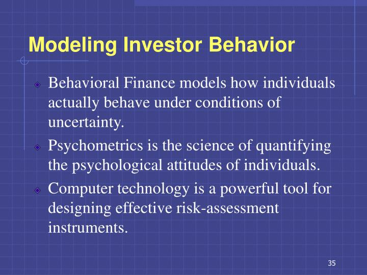 Modeling Investor Behavior
