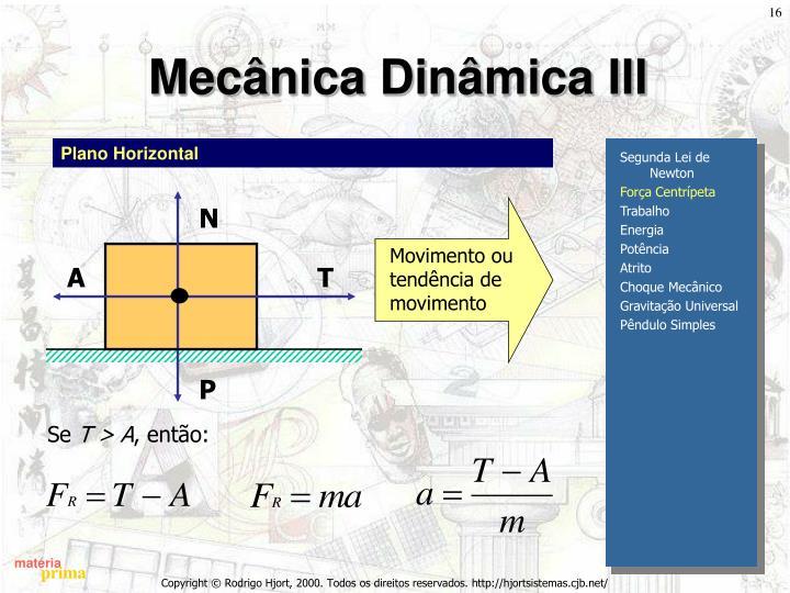 Mecânica Dinâmica III