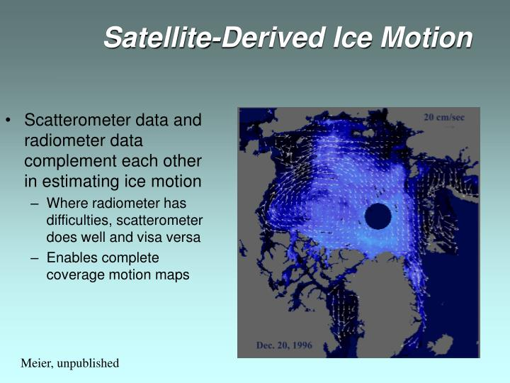Satellite-Derived Ice Motion