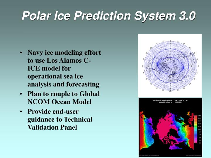 Navy ice modeling effort to use Los Alamos C-ICE model for operational sea ice analysis and forecasting