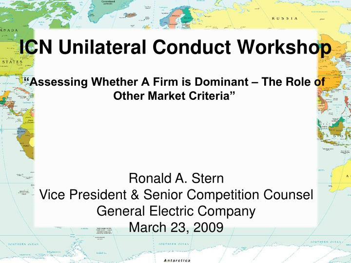 ICN Unilateral Conduct Workshop