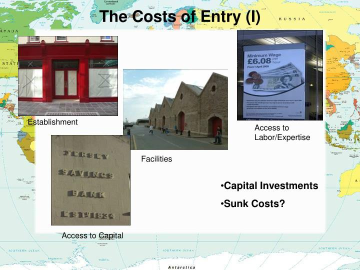 The Costs of Entry (I)