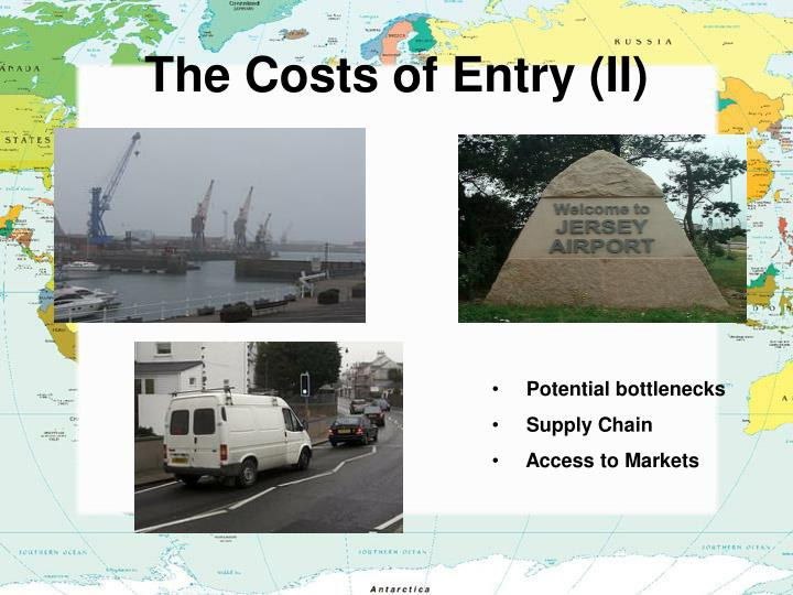 The Costs of Entry (II)