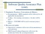 software quality assurance plan cont1